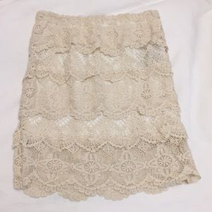 Cream Eyelet Urban Outfitters Skirt